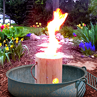 Fire Pit Timber Tote